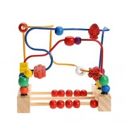 Trinkets & More™ - Wooden Beads (30 Pieces) Maze   Maze Puzzle Game Roller Coaster   Toddler Large Abacus   Learning Activity Centre Kids Magnet   Educational Toys 12 months+
