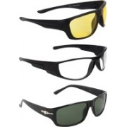 Zyaden Round Sunglasses(Yellow, Clear, Black)
