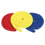 Three Strings Linking Ropes Red & Yellow & Blue Color Magic Trick Performance Accessories Props Toys