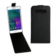 Vertical Flip Magnetic Snap Leather Case for Samsung Galaxy A3 / A300F(Black)