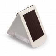 Napelemes LED falilámpa SOL 04 plus IP44 infravörös mozgásérzékelovel 2xLED 0,5W 85lm Szinek Szürke-fehér