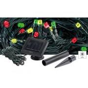 Solar-LED-Lichterkette, 5 m, mit 50 weissen LEDs | Solar Lichterkette