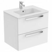 Mobilier suspendat Ideal Standard Tempo 60 cm cu 2 sertare, alb lucios -E3240WG