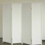 Raumteiler Paravent in Weiß blickdicht