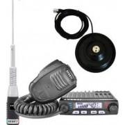 Pachet statie radio CB Avanti Supremo PRO-version + Antena radio CB Avanti Hermes si baza magnetica 145 PL