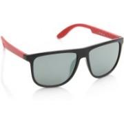 Joe Black Wayfarer Sunglasses(Green, Grey)