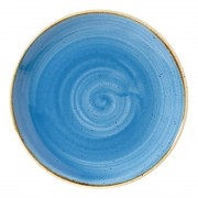 Churchill Super Vitrified Churchill Stonecast Round Coupe Plates Cornflower Blue 165mm