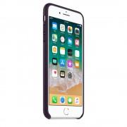 Apple iPhone Leather Case - оригинален кожен кейс (естествена кожа) за iPhone 8 Plus, iPhone 7 Plus (лилав)
