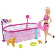Barbie Doll Puppy Swim School Pool