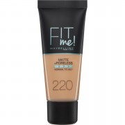 Maybelline Fit Me! Matte and Poreless Foundation 30ml (Various Shades) - 220 Natural Beige