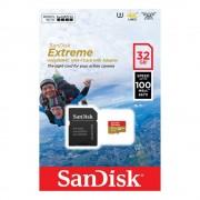 SanDisk microSDHC 32GB 100MB/s SD Adapter for Action Sports Cameras - works with GoPro Messaging Extreme A1 C10 V30 UHS-I U3 memorijska kartica SDSQXAF-032G-GN6AA SDSQXAF-032G-GN6AA