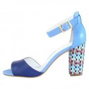 Sandale piele naturala dama - albastru, Epica - OE8291-446-565-07-N-Blue