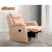 HOME Sillón relax mecedor de tela Eliseo