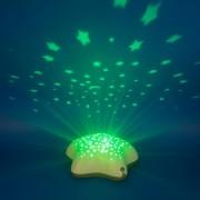 Lampa de veghe si proiector Bej Pabobo Stelute pentru copii si bebelusi cu baterii