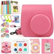 wogozan 9 In 1 Case Accessories Package for Fujifilm Instax Mini 9 Mini 8+ Mini 8 (Flamingo Pink Kit)