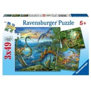 Puzzle farmecul dinozaurilor, 3x49 piese Ravensburger