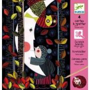 Djeco Scratch Cards - Halcyon Nights - 4 Card Set