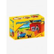 Playmobil 9123 Maleta Mercado, 123 Playmobil vermelho medio liso com motivo
