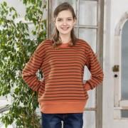 Pixie Heart T/C裏起毛ボーダースウェット【QVC】40代・50代レディースファッション