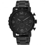 Fossil Nate Chronograph Black Dial Mens Watch - JR1401I