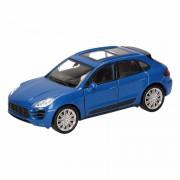 Porsche Speelgoed blauwe Porsche Macan Turbo auto 12 cm
