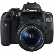 Aparat Foto DSLR Canon EOS 750D, Kit EFS 18-55 IS, Filmare Full HD, 24.2 MP (Negru)
