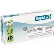 Capse RAPID Standard 23-6 1000 buc-cutie - pentru 2-20 coli