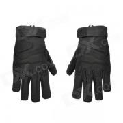 guantes al aire libre de parapente al aire libre con alpinismo para hombres - negro (XL)