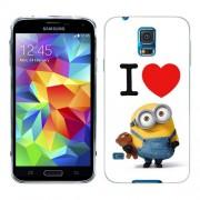 Husa Samsung Galaxy S5 Mini G800F Silicon Gel Tpu Model I Love Minions