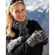 Result Handschoenen en sjaal setje luipaard motief
