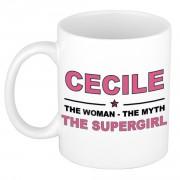 Bellatio Decorations Cecile The woman, The myth the supergirl verjaardagscadeau mok / beker keramiek 300 ml