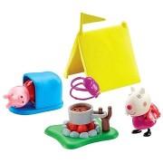 Peppa Pig - Camping készlet + 2 figura