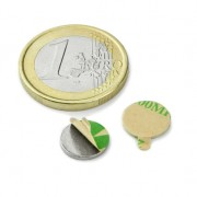 Magnet neodim disc cu autoadeziv, 10 mm, putere 500 g