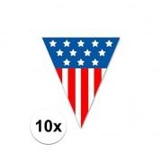 Geen 10x United States vlaggenlijn