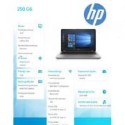 HP Inc. Laptop 250 G6 i5-7200U 15,6 256/4G/W10-K12 4LS35ES - WINDOWS W WERSJI EDUKACYJNEJ - DARMOWA DOSTAWA!!!