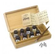 Set colectie caligrafie Winsor Newton in cutie lemn