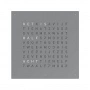 Biegert & Funk Qlocktwo Classic Metaal Klok Nederlands - Grey Pepper