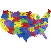 """United States Map Puzzle USA States Map 25"""" X15"""" - 40 Pieces (States"""