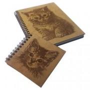 Set agenda si carnetel din lemn fabricate in Romania colectia Berlioz in cutie cadou