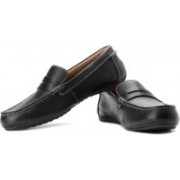 Clarks Marcos Drive Genuine Leather Slip On Shoes For Men(Black)