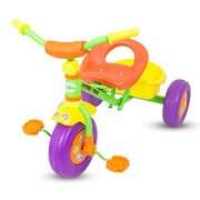 GoodLuck Baybee - Children Plug and Play Sudo Flower Designs on Wheels Tricycle Kid's for 2-4 Years Baby Trike Ride on Outdoor | Suitable for Babies,Boys & Girls - (Green)