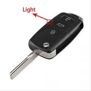 FBFG 3 Botón Flip Remote Key Shell Shell Car Key Case para VW Volkswagen Tiguan Golf Sagitar Polo Mk6 Caddy Passat B6 Auto Keys CaseModelo 2