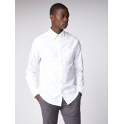Ben Sherman Main Line Long Sleeve White Oxford Shirt Med Bright White