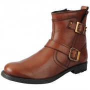 Fausto Men Tan Lace-Up Boots