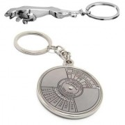 CTW Pack of 2 Compass Calendar Jaguar Metal Keychain keyring