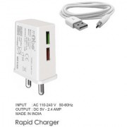 RRTBZ 2.4Amp High Speed Universal Wall Charger Travel Charger With Micro USB Cable Mobile Charger Power Adapter Wall Charger -White
