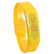 Ultra Slim LED Watches-Trendy Yellow Colour with Imported Quality