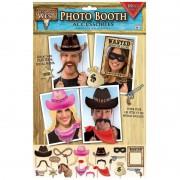 Geen 18x Photobooth props cowboy feestje