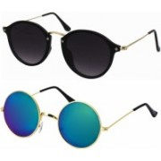 Billion Round, Oval Sunglasses(For Boys & Girls)