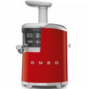 GARANTIE 3 ANI Storcator lent SMEG RETRO `50 corp si cos de plastic, 43 RPM, regulator nivel densitate suc, functie reverse, putere 150 W, ROSU, SJF01RDEU